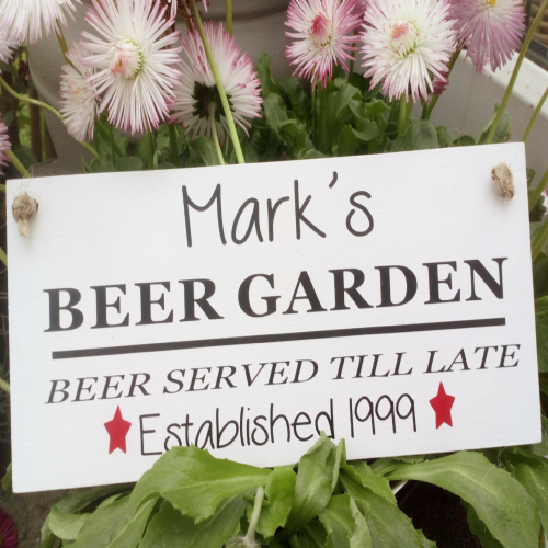 Alcohol Served Personalised Garden Plaque
